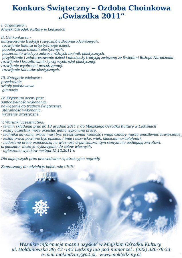 Ozdoba świąteczna 2011