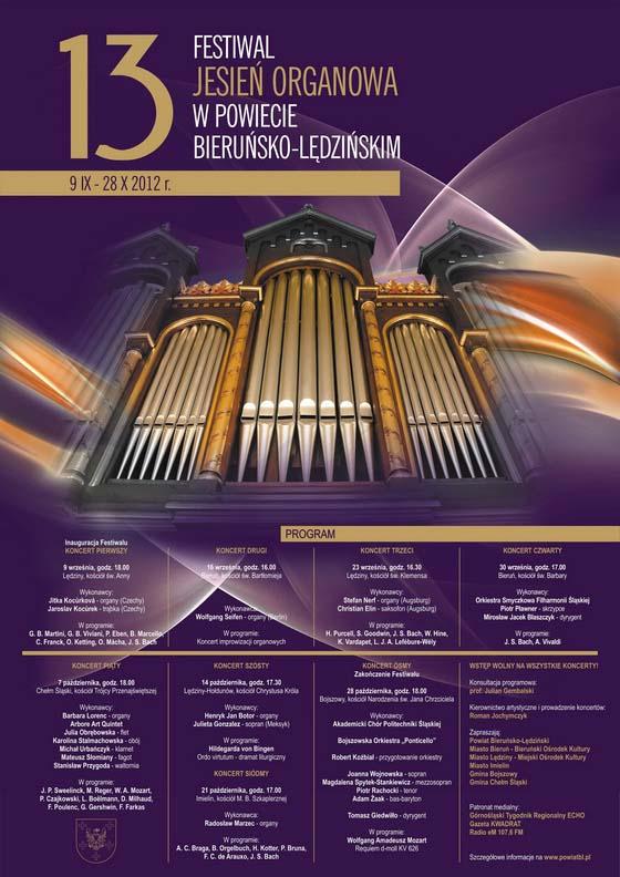 XIII Festiwal Jesień Organowa