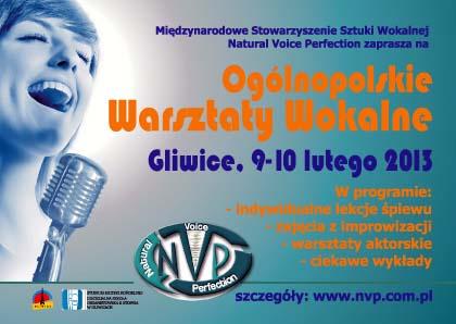 Ogólnopolskie Warsztaty Wokalne wGliwicach