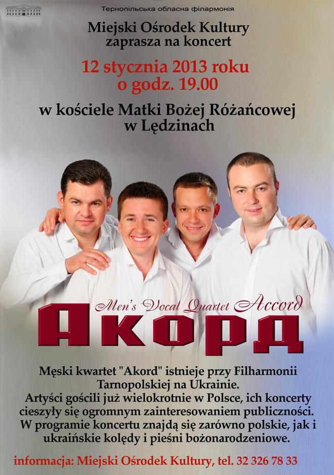 Koncert kwartetu Akord zUkrainy
