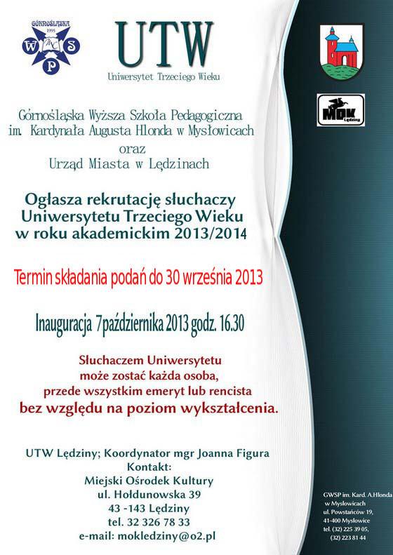 Inauguracja UTW wLędzinach