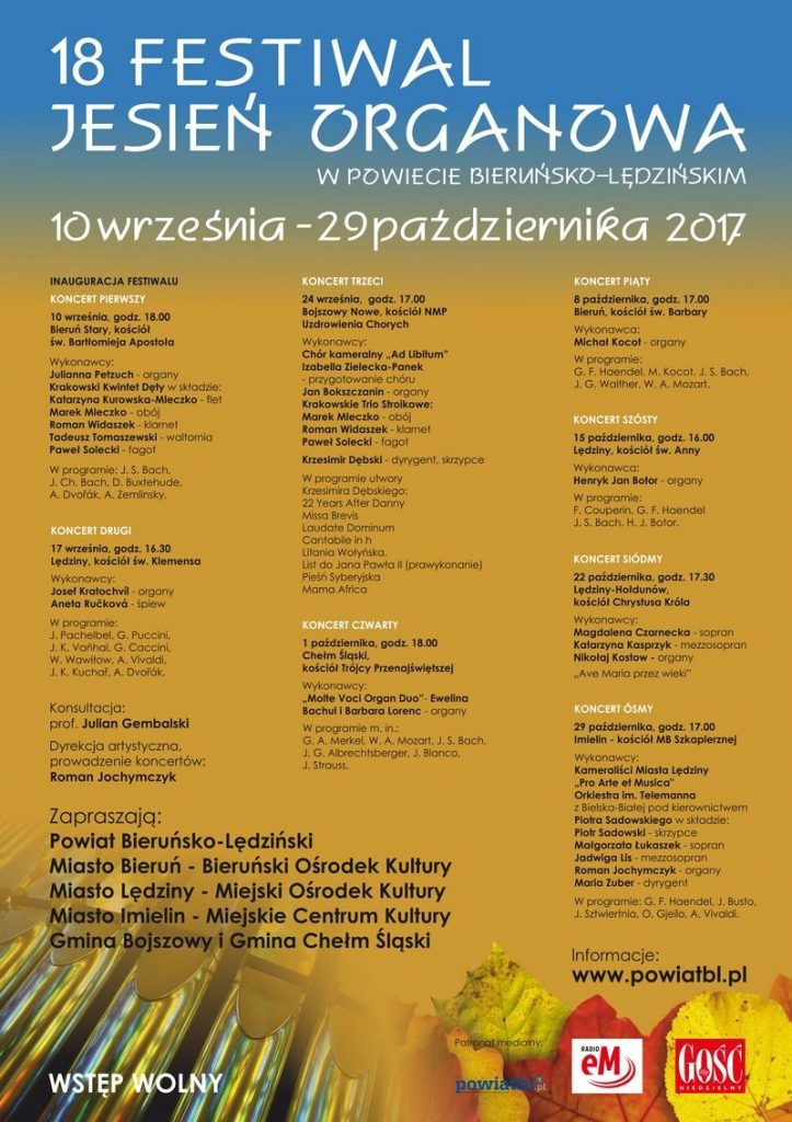 XVIII Jesień Organowa wPowiecie Bieruńsko-Lędzińskim