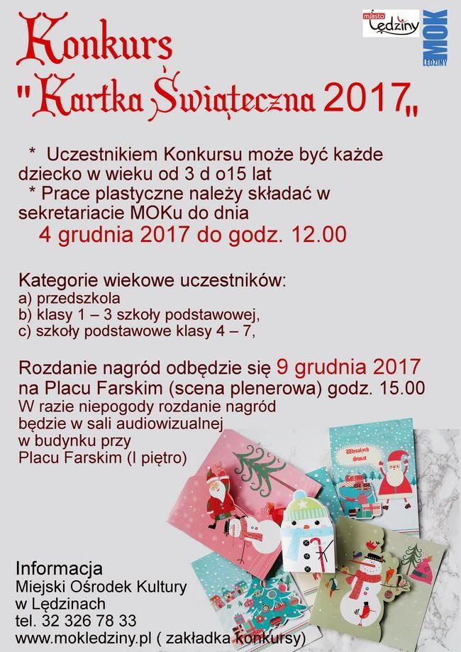 """Konkurs """"Kartka Świąteczna 2017"""""""