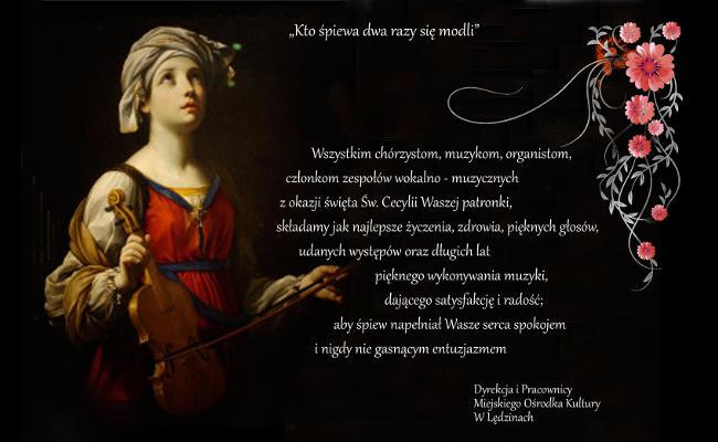 Życzenia zokazji wspomnienia Świętej Cecylii