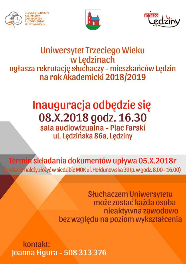 Inauguracja Roku Akademickiego Uniwersytetu Trzeciego Wieku