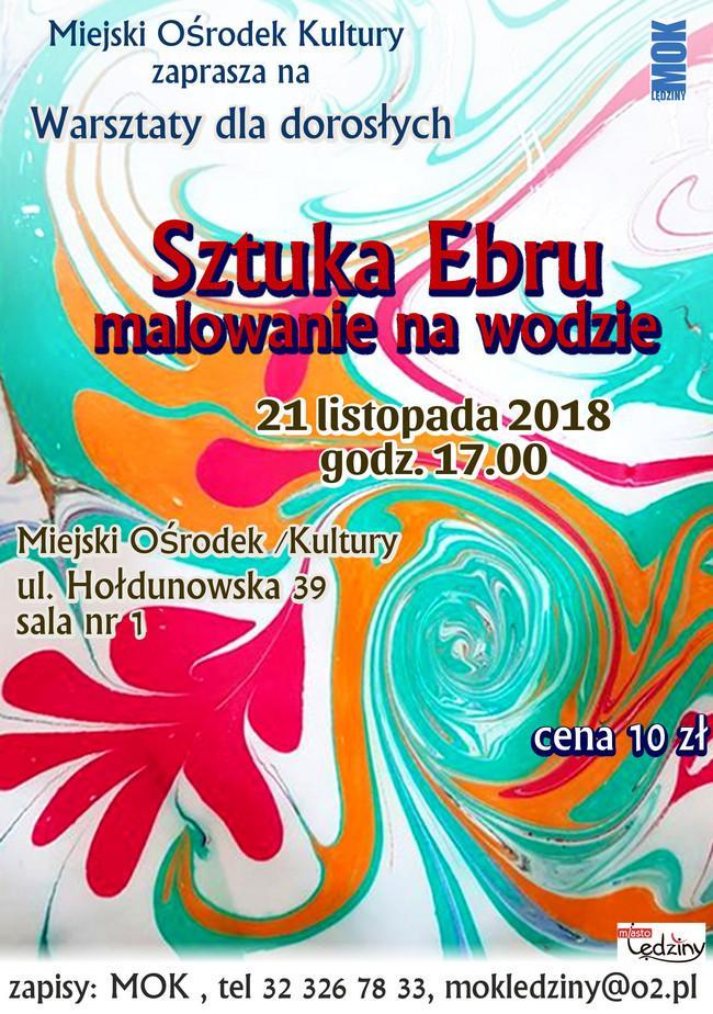 Warsztaty dla dorosłych - sztuka Ebru