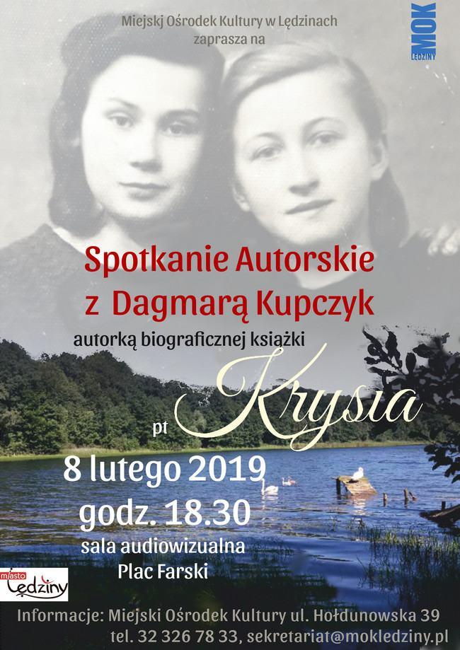 Spotkanie autorskie zDagmarą Kupczyk