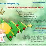 Konkurs Choinka Bożonarodzeniowa 2016