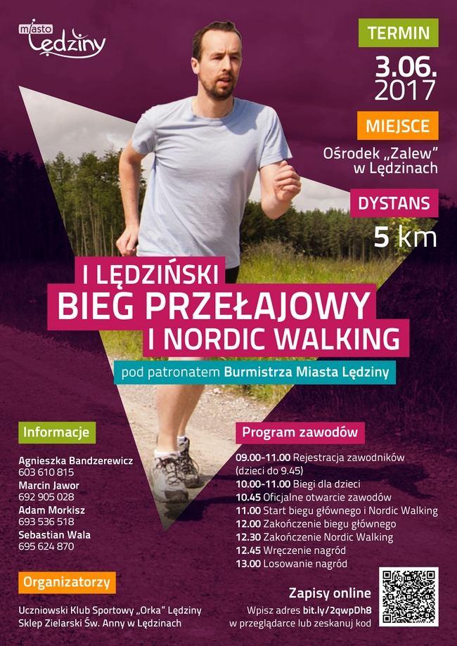 I Lędziński Bieg Przełajowy i Nordic Walking