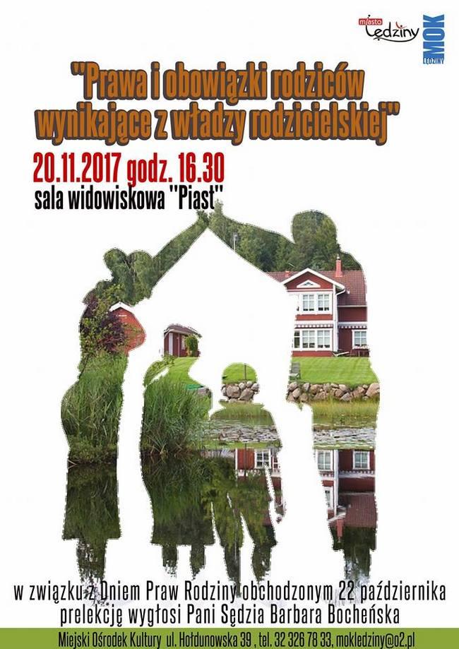 """Prelekcja """"Prawa i obowiązki rodziców wynikające z władzy rodzicielskiej"""""""
