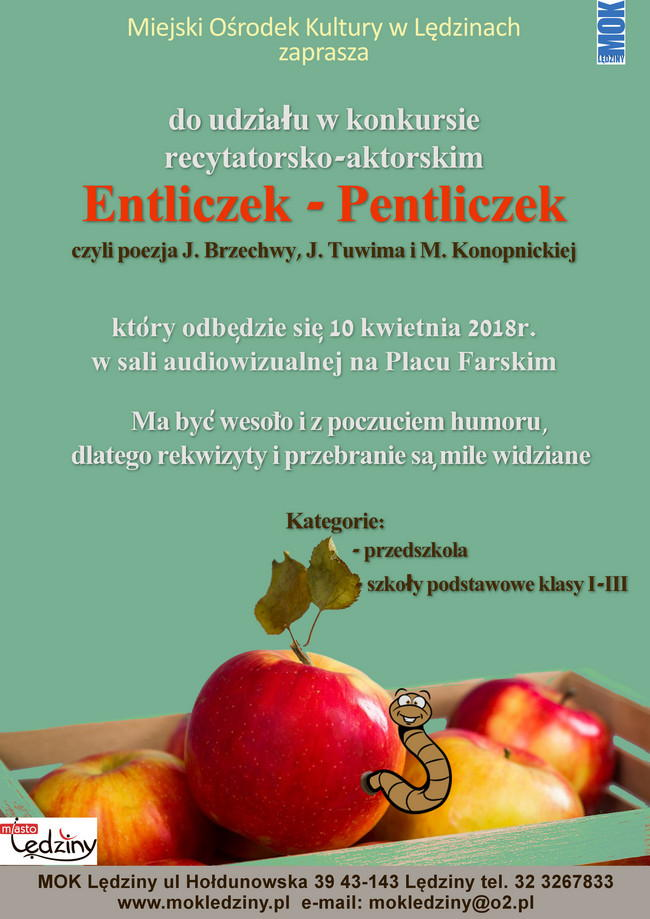 "Konkurs recytatorski ""Entliczek-pentliczek"""