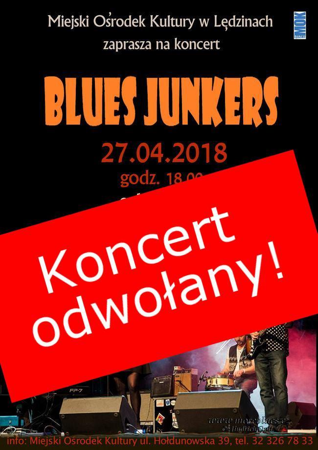 Koncert zespołu Blues Junkers odwołany