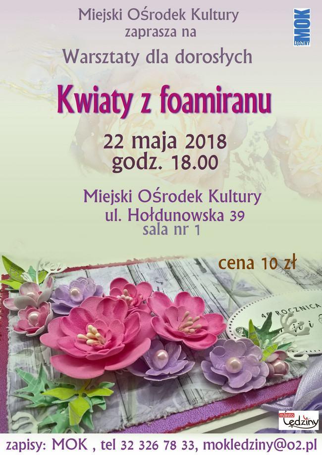 Warsztaty dla dorosłych: Kwiaty z foamiranu