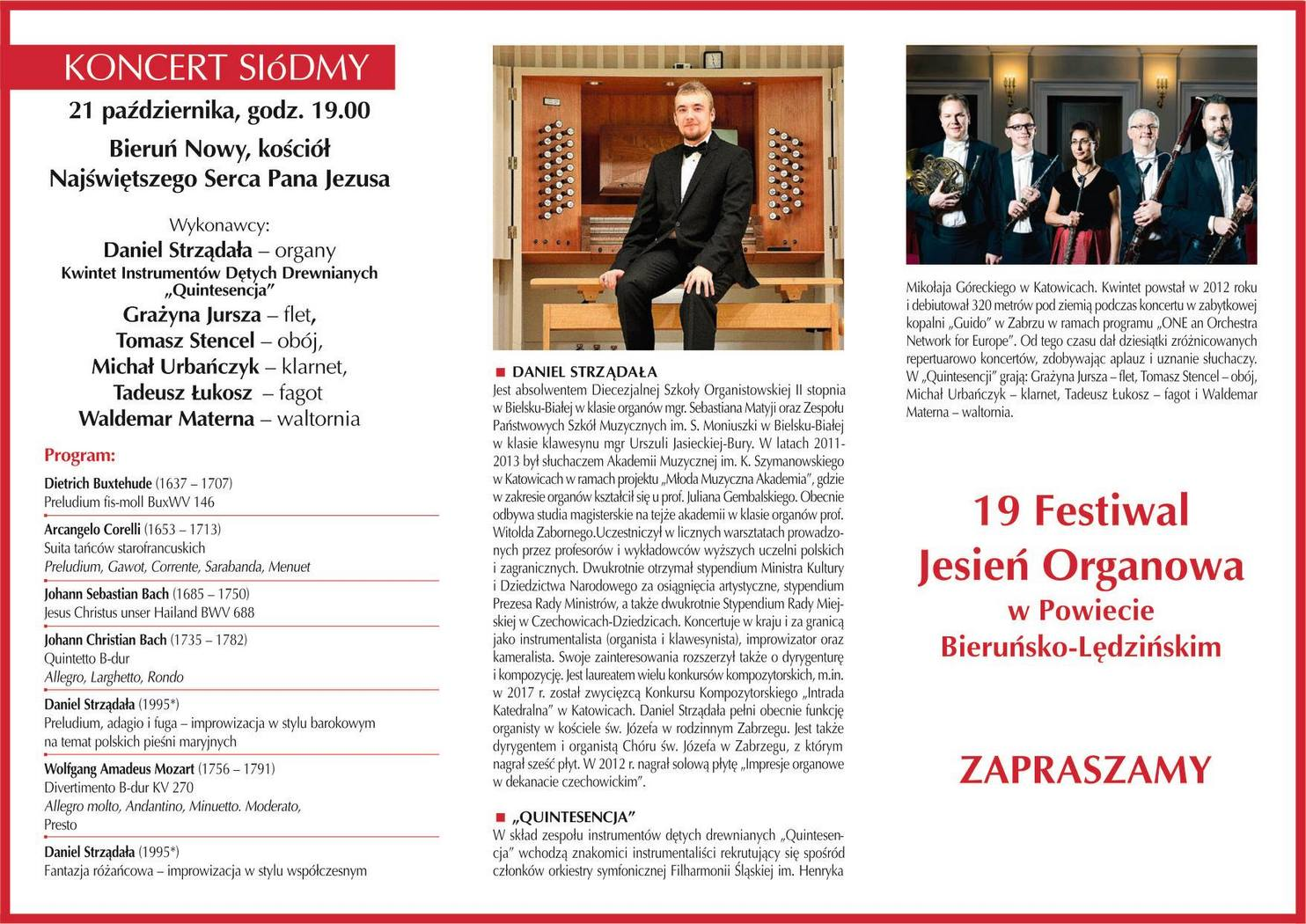 19 Festiwal Jesień Organowa: Koncert siódmy