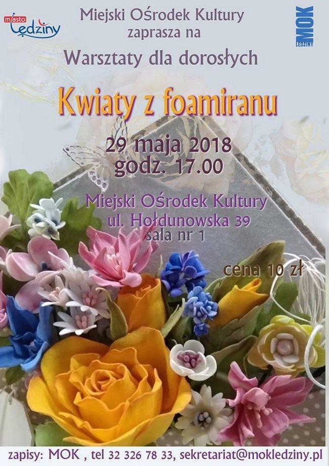 Kwiaty z foamiranu – warsztaty dla dorosłych