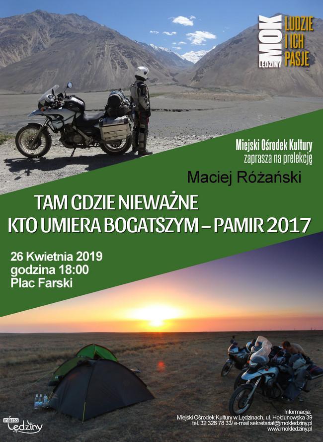 """Pamir – spotkanie z cyklu """"Ludzie i ich Pasje"""""""